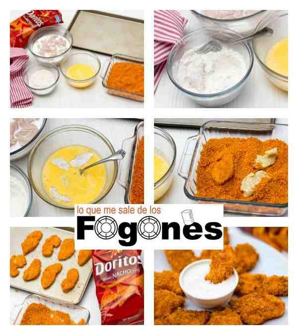 Receta Nuggets de pollo con nachos global