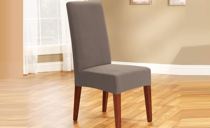 Taupe Pearson Dining Chair Cover by Sure Fit