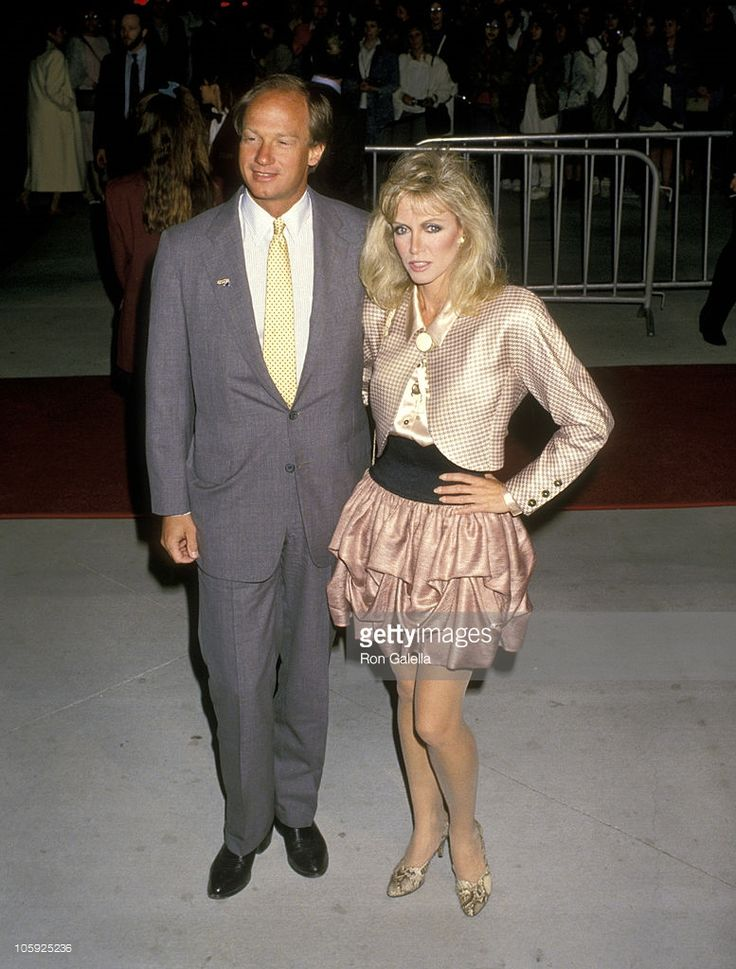 Donna Mills and John Emerson during 14th Annual People's Choice Awards at 20th Century Fox Studios in Los Angeles, California, United States. 1988