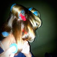 Velcro curlers are a necessity when no power is available.