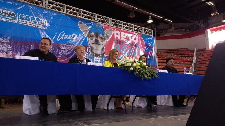"Chihuahua, Chih.- Está mañana se dió el arranque del ""Reto Chihuahua Azul"" en presencia de la alcaldesa, Maru Campos Galván"