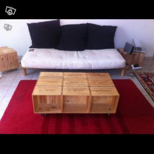 10 best caisse de vin images on pinterest crates storage and wine crates. Black Bedroom Furniture Sets. Home Design Ideas