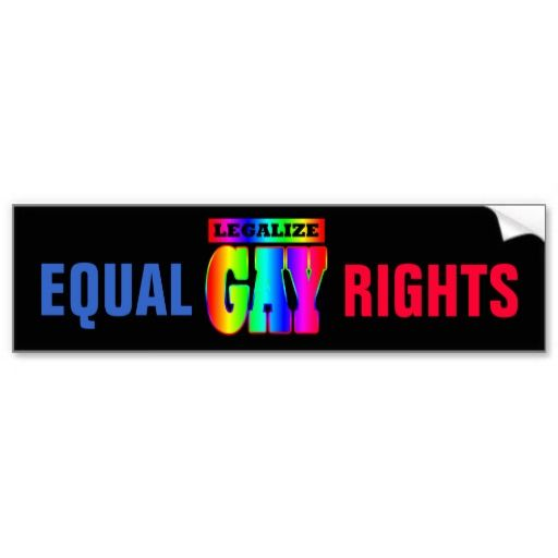 Gay rights bumper stickers