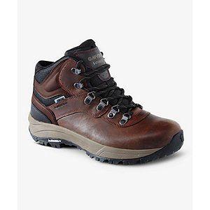 Choix pratique pour la randonnée, ces bottes en cuir d'allure classique pour hommes Hi-Tec sont dotées de la membrane étanche à l'eau Dri-Tec qui protège de l'eau