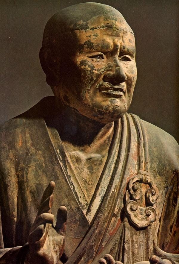 Sesin Ryu-zo wooden statue at Kofuku-ji temple, Nara, Japan 世親立像 / 興福寺