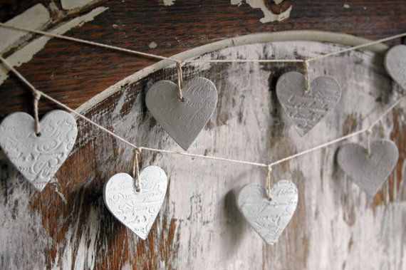 French script hearts from French & Sparrow on Etsy