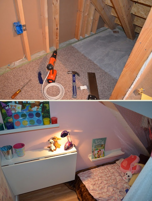 Kids Art room and reading nook under the stairs! Blog includes links to where to shop.
