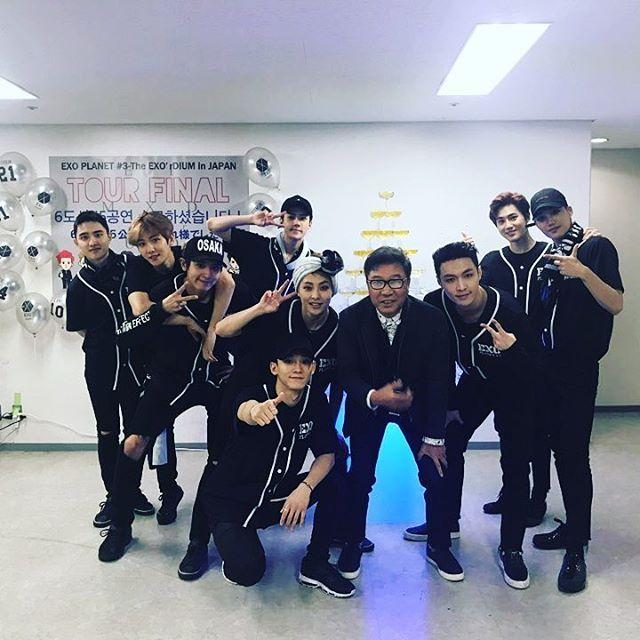 Sehun instagram update exo with Lee Sooman (Chanbaek tho❤❤❤)