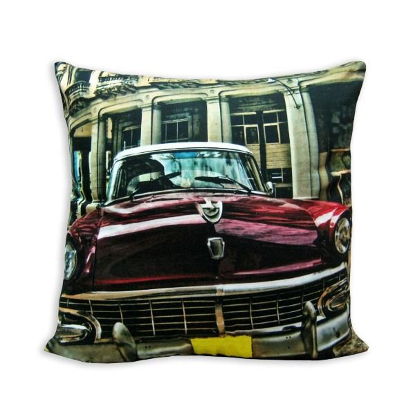 Cushion Cover Vintage Red Car - Rs.539.10