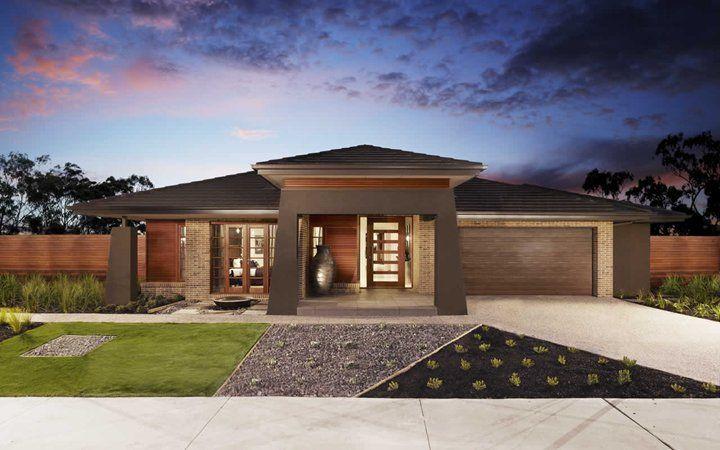 Fairhaven pagoda facade new home designs metricon for Design my house facade