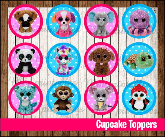 Hey, I found this really awesome Etsy listing at https://www.etsy.com/listing/262513808/80-off-sale-beanie-boos-cupcakes-toppers