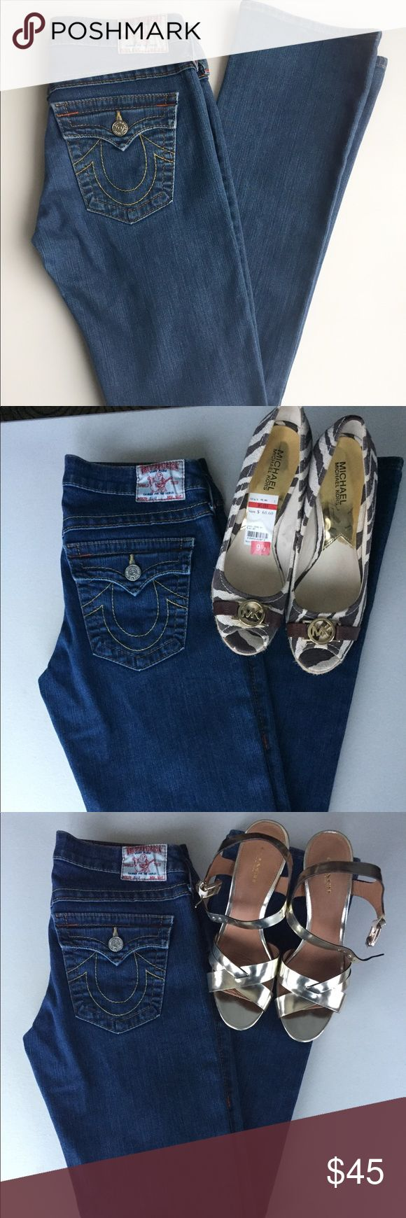 True Religion straight cut jeans size 27 Like new (only worn once) True Religion jeans, size 27. Easy to dress up or down! Bundle and save! True Religion Jeans Straight Leg