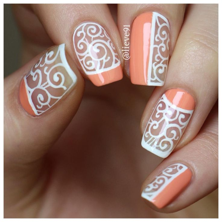 98 Best Coral And Peach Nails, Fashion, And Makeup. Images