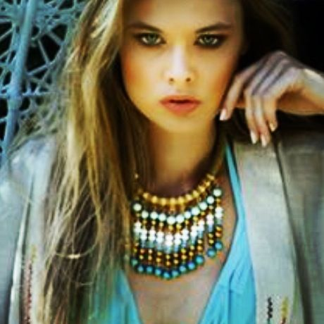 Lo & behold jewellery #statement#necklace#summer#blue#gold#white