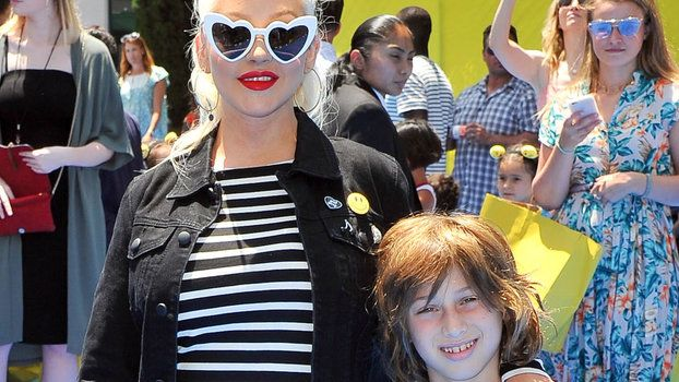 Christina Aguilera's 9-Year-Old Son Max Fills in for Her During Rehearsal Crushes It