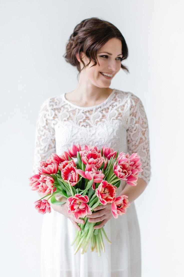 Свадебный букет из тюльпанов | Friedatheres.com