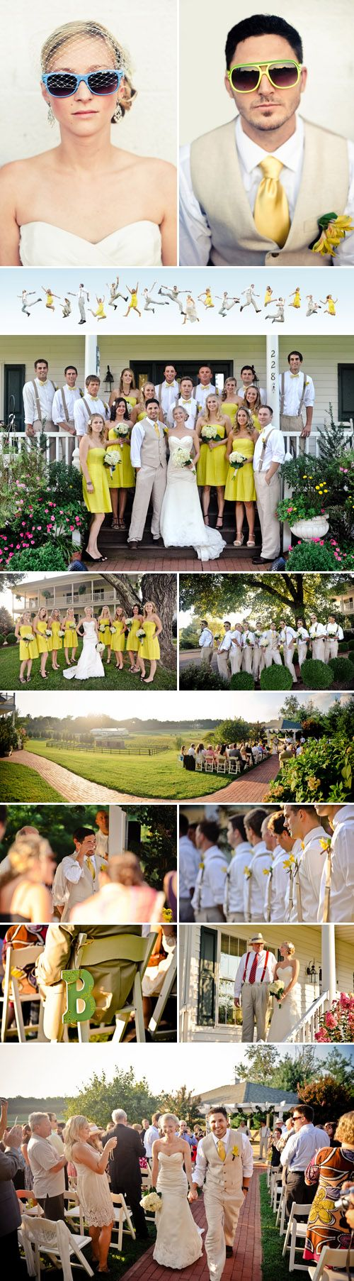 casual outdoor Virginia real wedding at the Rock Hill Plantation House, photos by Rebekah J. Murray Photography