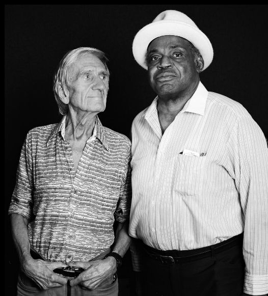"tornandfrayed: "" Gil Evans and Willie Dixon by Richard Corman. """