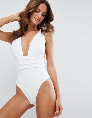 ASOS Gathered Waist Band Swimsuit