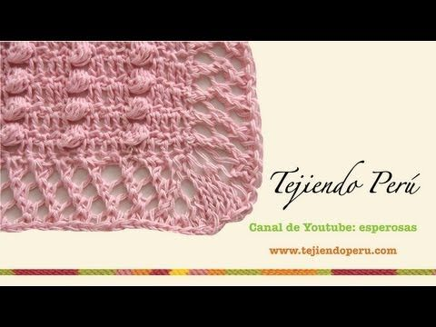 Manta o colcha para bebé en crochet y aguja circular (Parte 2)