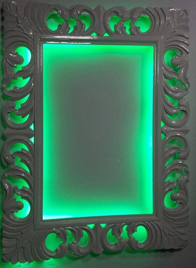 8 best marcos y espejos artesanos con luz images on - Espejo marco blanco ...