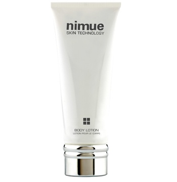 Body Lotion. This light, creamy antioxidant rich formula Body Lotion contains AHA`s and Kigelia Africana Complex to restore skin to radiant health and suppleness. 200ml. Nimue Skin Technology.