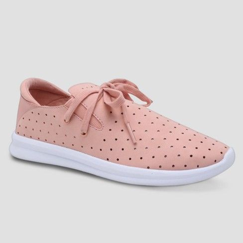 Women's Janai Lace up Lightweight Laser Cut Dot Sneakers - Mossimo Supply Co™ : Target