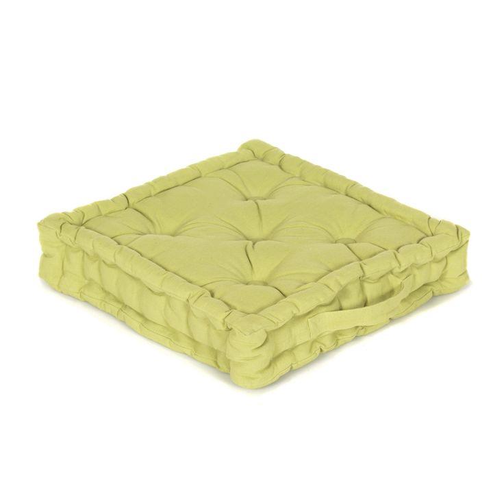 perfect pouf tapissier vert almra coussins de sol fauteuils et poufs salon et with pouf alinea. Black Bedroom Furniture Sets. Home Design Ideas