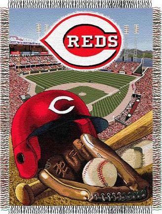"Cincinnati Reds Home Field Advantage 48"" x 60"" Tapestry Throw Blanket"
