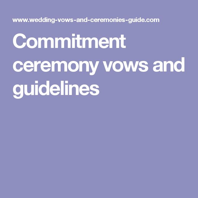 13 Best Commitment Ceremony Images On Pinterest