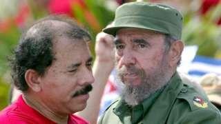 Image copyright                  Getty Images                  Image caption                                      El presidente de Nicaragua Daniel Ortega, entre otros líderes, expresó su pésame a las autoridades cubanas por la muerte de Fidel Castro.                                Del norte al sur del continente americano y desde todos los rincones del mundo