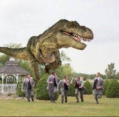 #anthonyslakeside #dinosaur #run #funnyweddingpic