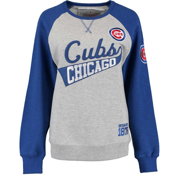 Chicago Cubs Women's Biowashed Dugout Fleece Crew Neck Sweatshirt  #ChicagoCubs #Cubs #FlyTheW