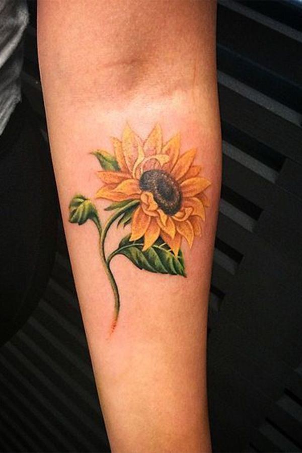 Simple Sunflower Tattoo Designs To Carry Your Favorite Flower On Your Skin Sunflower Tattoo Sleeve Sunflower Tattoo Design Sunflower Tattoo