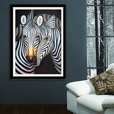 Animal Fantasy Illustration Wall Art,PVC Material With Frame For Home Decoration Frame Art Living Room Kitchen Dining Room Bedroom Office