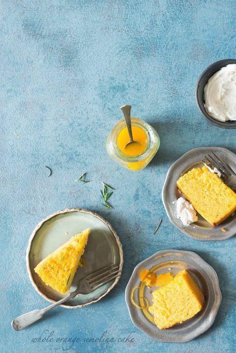 Whole Orange Semolina Cake With Rosemary Syrup Recipe