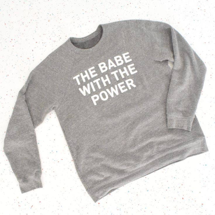 The Babe with the Power - Grey Sweatshirt - Oui Fresh