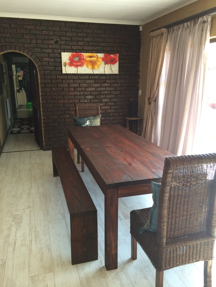 Dinning room table and benches complete