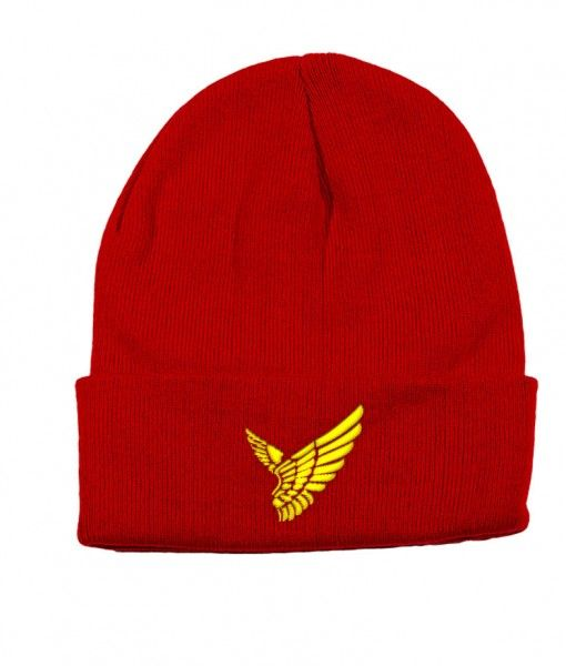 Red-Gold-Wings-Beanie