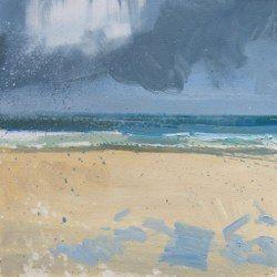 Threat of Rain, Porthmeor, oil, Lucie Bray