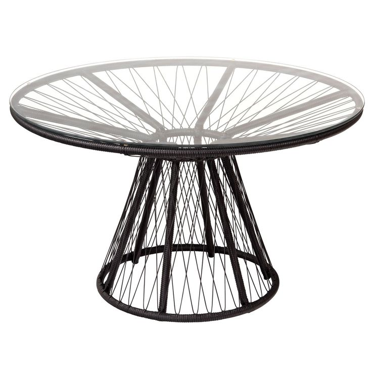 This contemporary outdoor dining table features a tubular stainless steel frame, woven HDPE synthetic wicker details and a sturdy tempered glass top. The modern outdoor dining table is designed to comfortably accommodate up to four people. The patio table is round and offers a classic rattan furniture style with the improved durability of modern construction and materials. The Memoir outdoor dining table by Stori Modern measures 29.375 in. (h) x 48 in. (w) x 48 in. (d) and available colors…