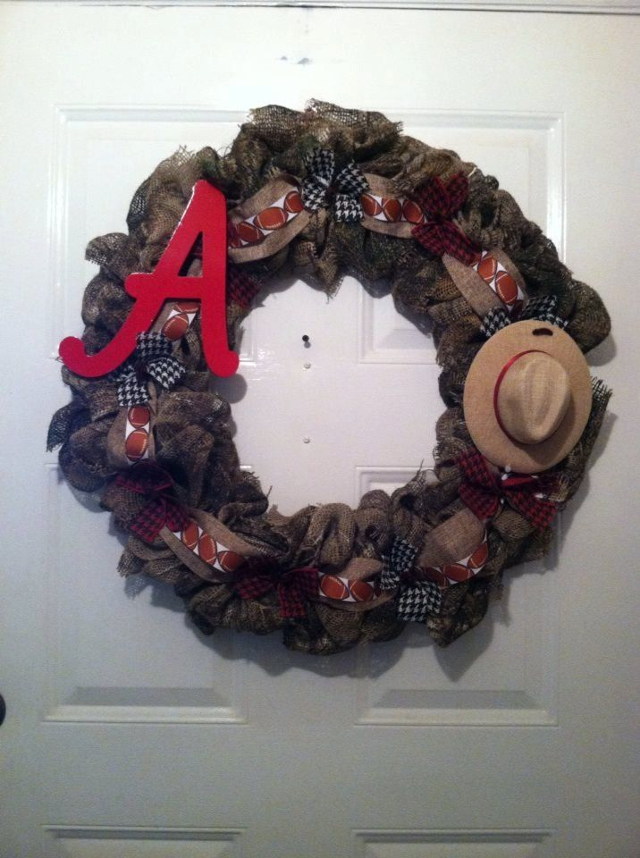 Camoflauge Alabama Burlap Wreath, Camo Bama Wreath, Camo Burlap Wreath, Camo Bama Burlap Wreath, Bama Wreath,Bama Camo Wreath,Camo Wreath