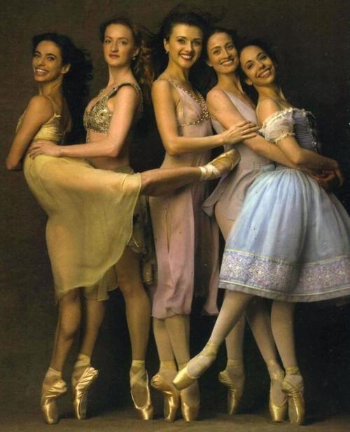 Current & former ABT principals Alessandra Ferri, Gillian Murphy, Irina Dvorovenko, Julie Kent and Xiomara Reyes