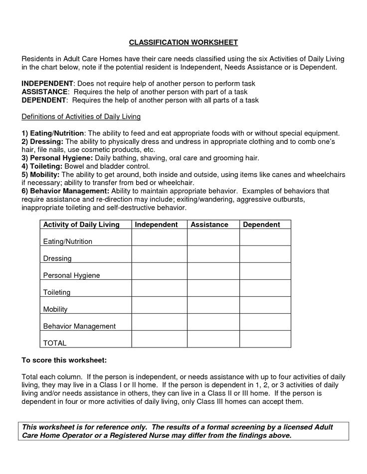 Free Independent Living Skills Worksheets in 2020 Living