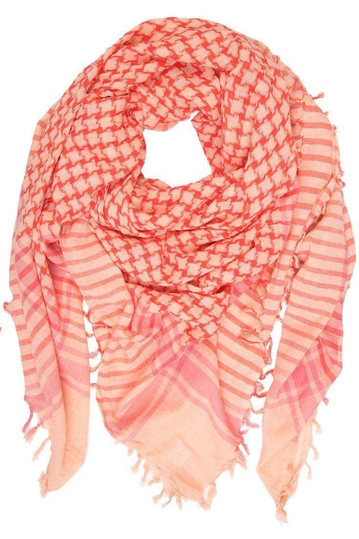 Becksöndergaard Schal Echelle Neon Orange.  www.styleserver.de