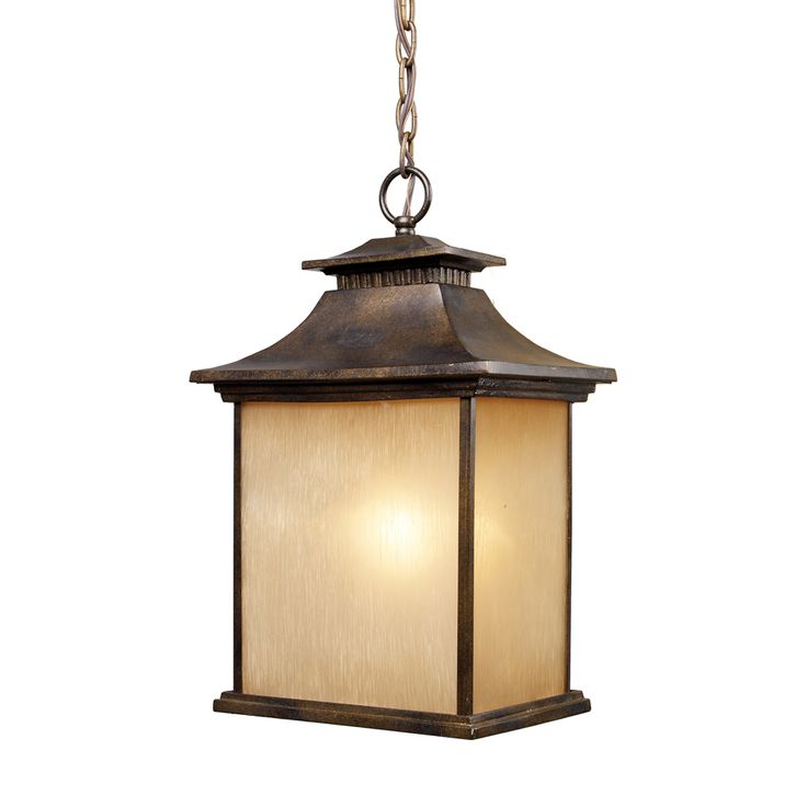 57 best mission asian outdoor hanging lights images on pinterest elk lighting san gabriel 1 light outdoor pendant in hazelnut bronze 421831 mozeypictures Image collections