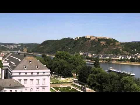 Mercure Hotel Koblenz - Koblenz - Visit http://germanhotelstv.com/mercurekoblenz This 4-star hotel in Koblenz stands beside the Rhein-Mosel-Halle convention centre and the Kurfürstliches Schloss castle on the River Rhine. It offers a 24-hour gym with sauna a riverside terrace and underground parking. -http://youtu.be/XoDLQI2hg8g