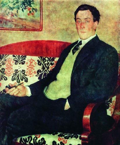 Portrait of Peter Kapitza   - Boris Kustodiev