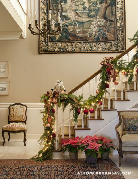 1171 best christmas staircase images on pinterest dcor - Christmas Decorations Stairs Pinterest