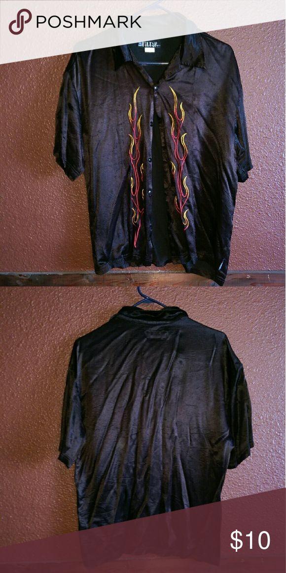Men's silk Shirt Men's silk button down short sleeve shirt Shirts Casual Button Down Shirts